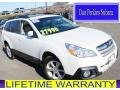 Satin White Pearl 2013 Subaru Outback 2.5i Limited