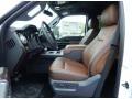 2014 Ford F250 Super Duty Platinum Pecan Leather Interior Interior Photo