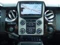 2014 Ford F250 Super Duty Platinum Pecan Leather Interior Controls Photo