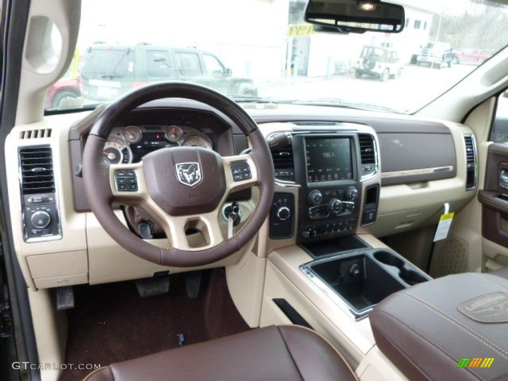 canyon brown light frost beige interior 2014 ram 3500 laramie longhorn crew cab 4x4 photo. Black Bedroom Furniture Sets. Home Design Ideas