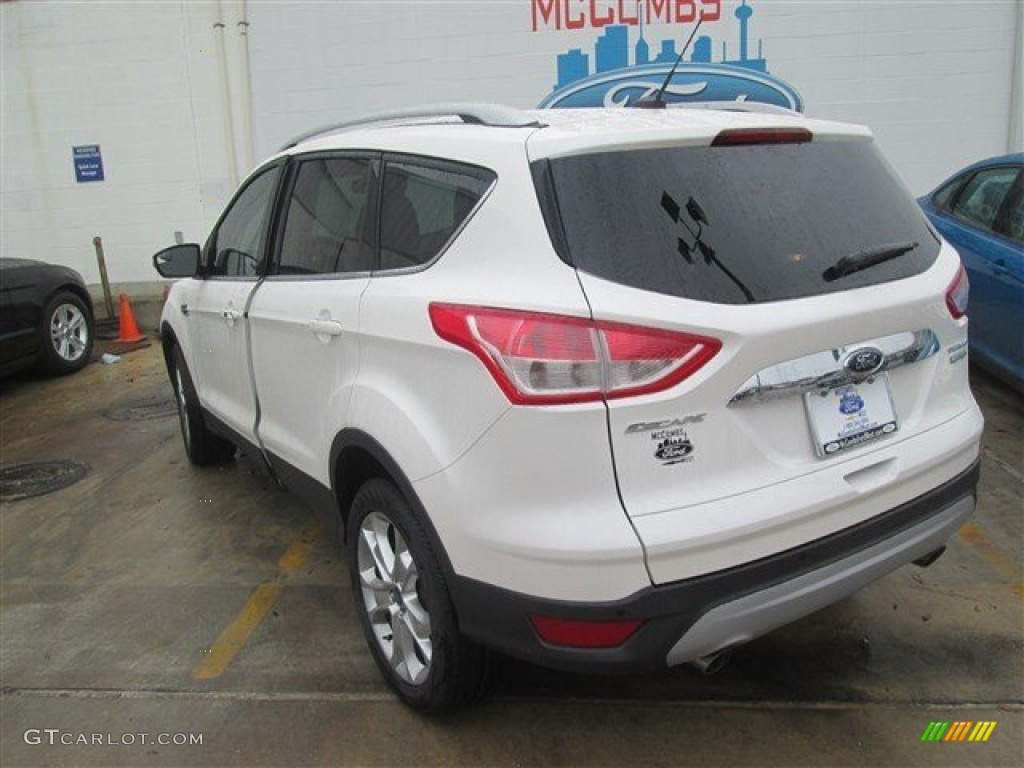 2014 Escape Titanium 1.6L EcoBoost - White Platinum / Medium Light Stone photo #2