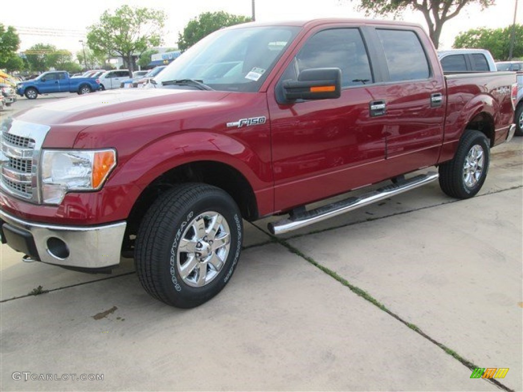 2014 F150 XLT SuperCrew 4x4 - Ruby Red / Steel Grey photo #1