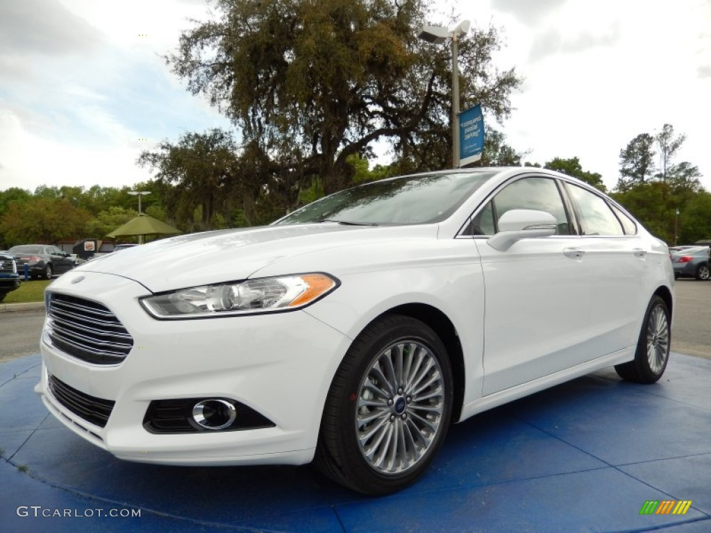 2014 oxford white ford fusion titanium awd 91942827 car color galleries. Black Bedroom Furniture Sets. Home Design Ideas