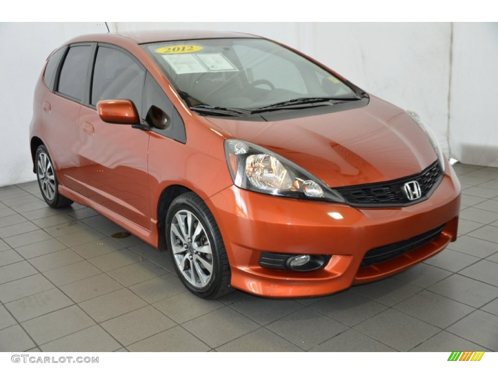 2012 orangeburst metallic honda fit sport 91942650 car color galleries. Black Bedroom Furniture Sets. Home Design Ideas