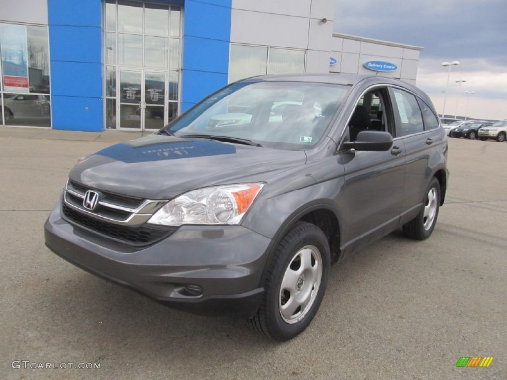 2011 CR-V LX 4WD - Polished Metal Metallic / Black photo #19