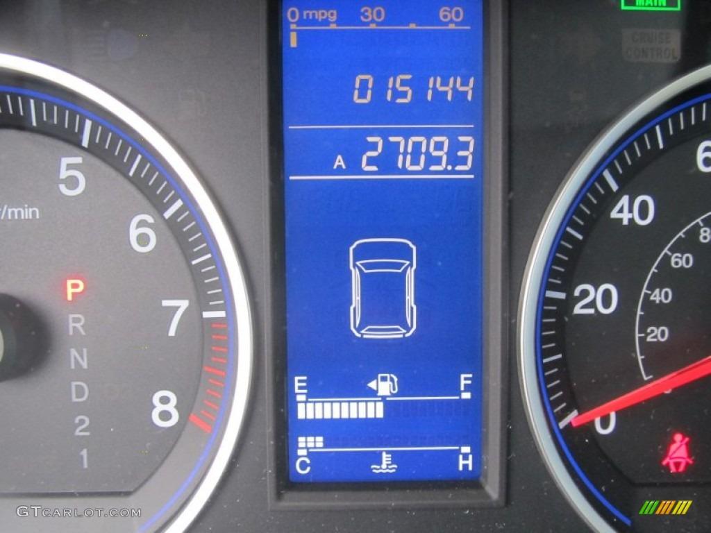 2011 CR-V LX 4WD - Polished Metal Metallic / Black photo #20