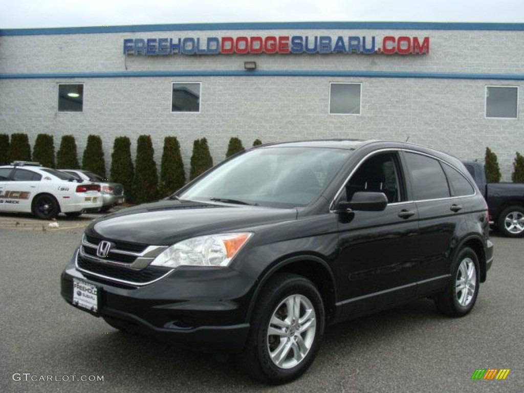 2010 CR-V EX AWD - Crystal Black Pearl / Black photo #1