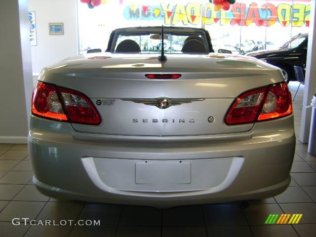 2008 Sebring LX Convertible - Bright Silver Metallic / Dark Slate Gray/Light Slate Gray photo #5