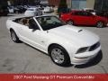 Performance White 2007 Ford Mustang GT Premium Convertible
