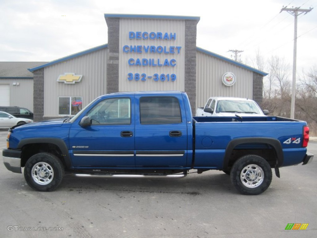 2004 arrival blue metallic chevrolet silverado 2500hd ls crew cab 4x4 92039199. Black Bedroom Furniture Sets. Home Design Ideas