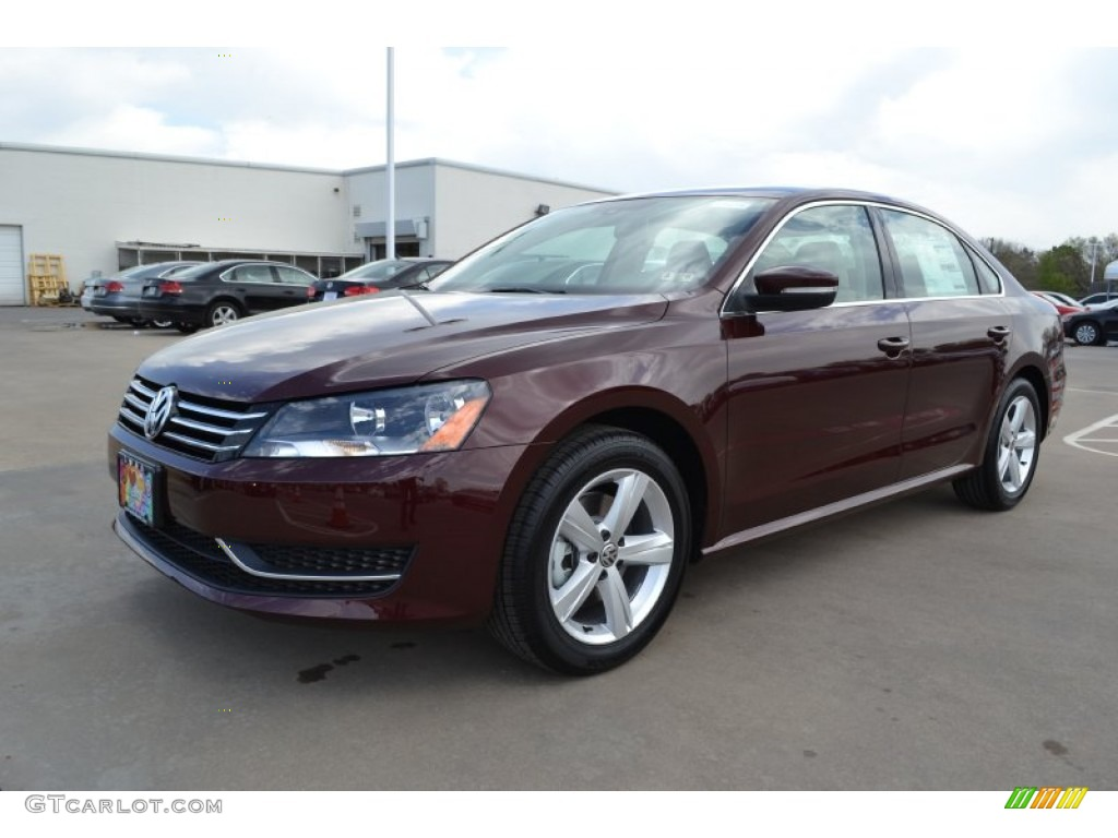 2014 Passat 1.8T SE - Opera Red Metallic / Cornsilk Beige photo #1