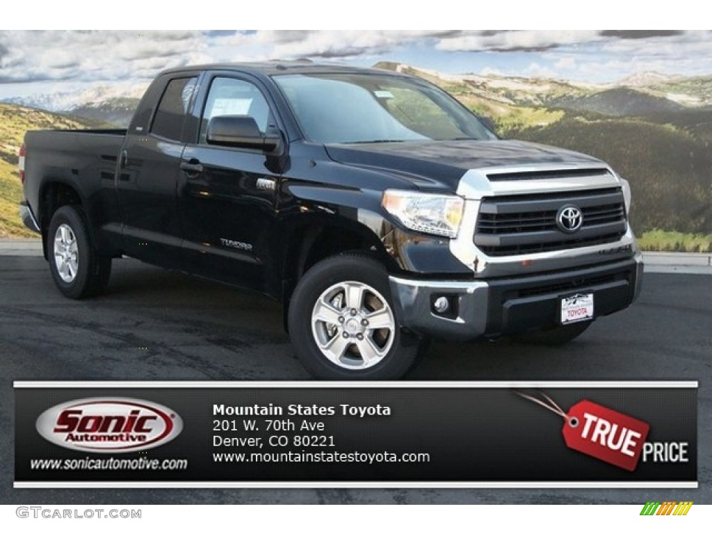 2014 Tundra SR5 Double Cab 4x4 - Black / Sand Beige photo #1
