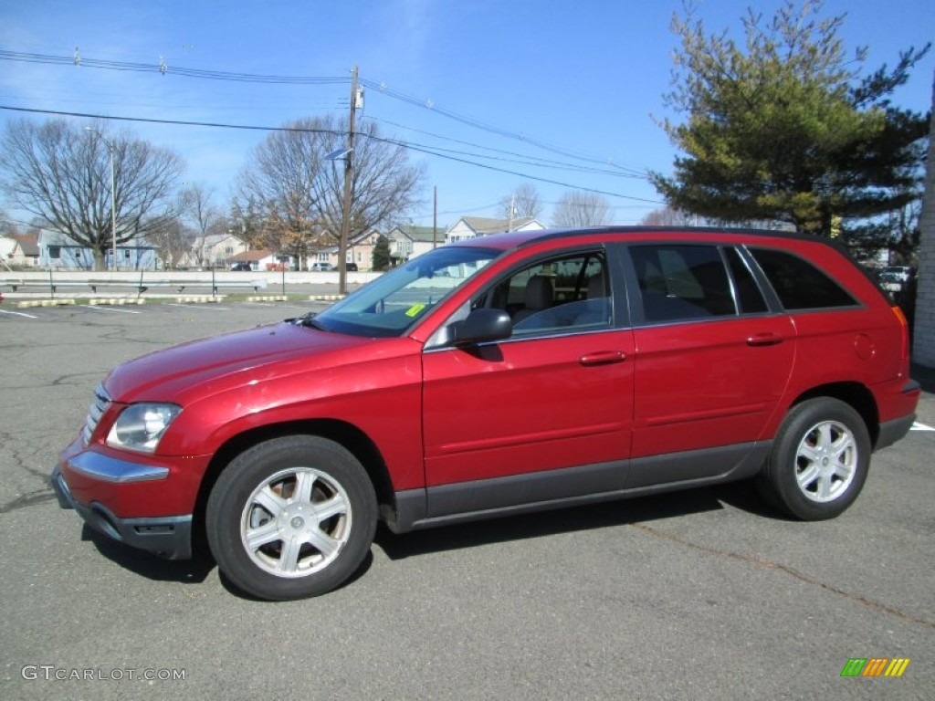 2005 inferno red crystal pearl chrysler pacifica touring awd 92138702 car. Black Bedroom Furniture Sets. Home Design Ideas