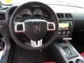 2014 Dodge Challenger Dark Slate Gray/Radar Red Interior Dashboard Photo