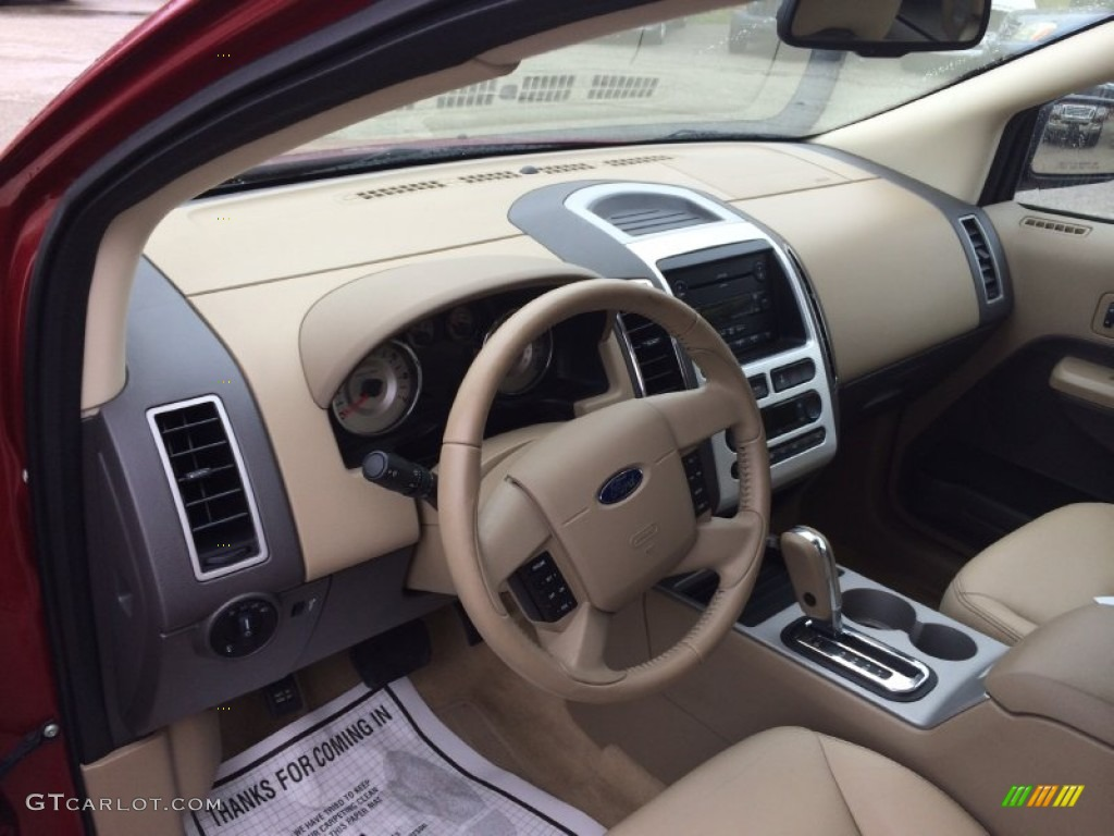 camel interior 2007 ford edge sel plus awd photo 92222642. Black Bedroom Furniture Sets. Home Design Ideas