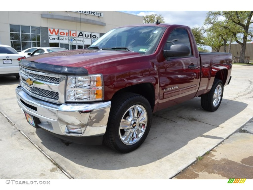2013 Silverado 1500 LT Regular Cab - Deep Ruby Metallic / Ebony photo #1