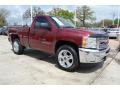 2013 Deep Ruby Metallic Chevrolet Silverado 1500 LT Regular Cab  photo #7