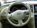 2010 Infiniti FX Wheat Interior Steering Wheel Photo