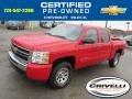 2009 Victory Red Chevrolet Silverado 1500 LS Crew Cab 4x4  photo #1