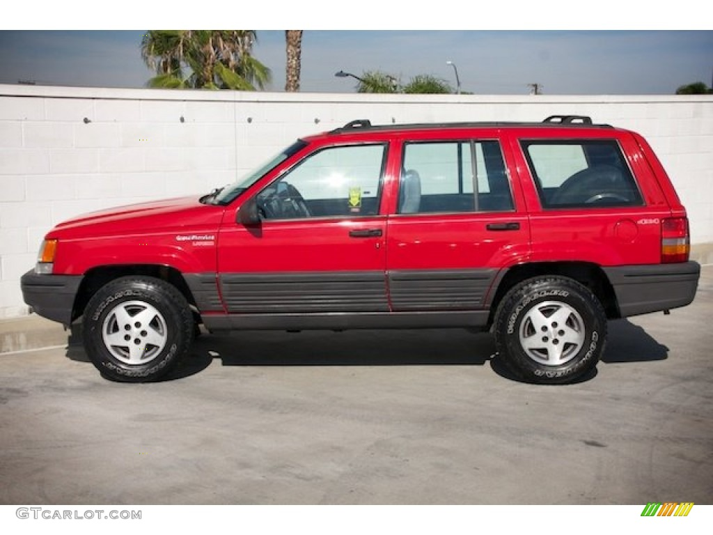 1994 flame red jeep grand cherokee se 4x4 92343944 photo 10 car color galleries. Black Bedroom Furniture Sets. Home Design Ideas