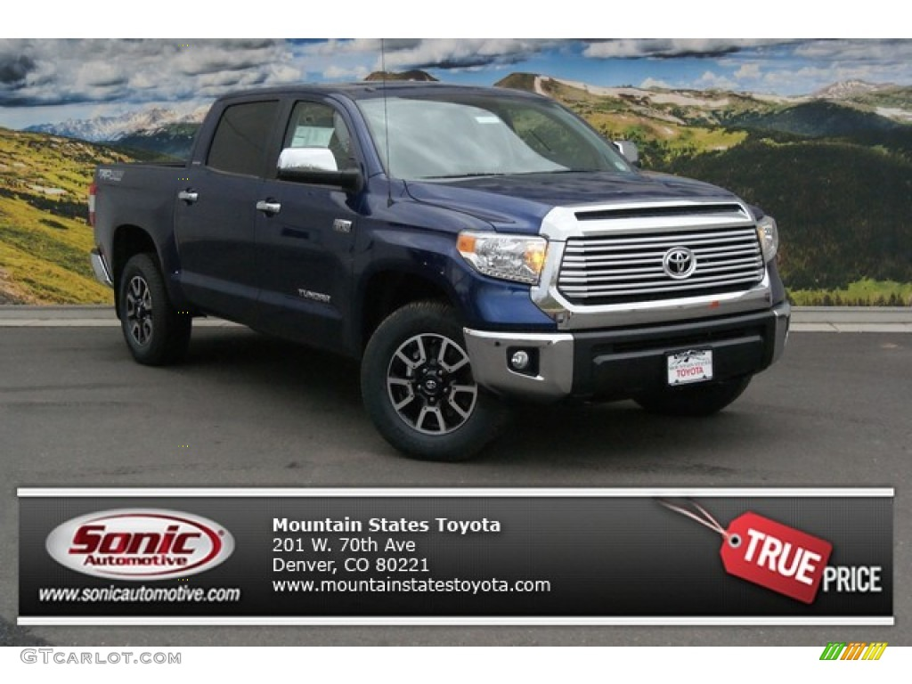 2014 Tundra Limited Crewmax 4x4 - Blue Ribbon Metallic / Graphite photo #1