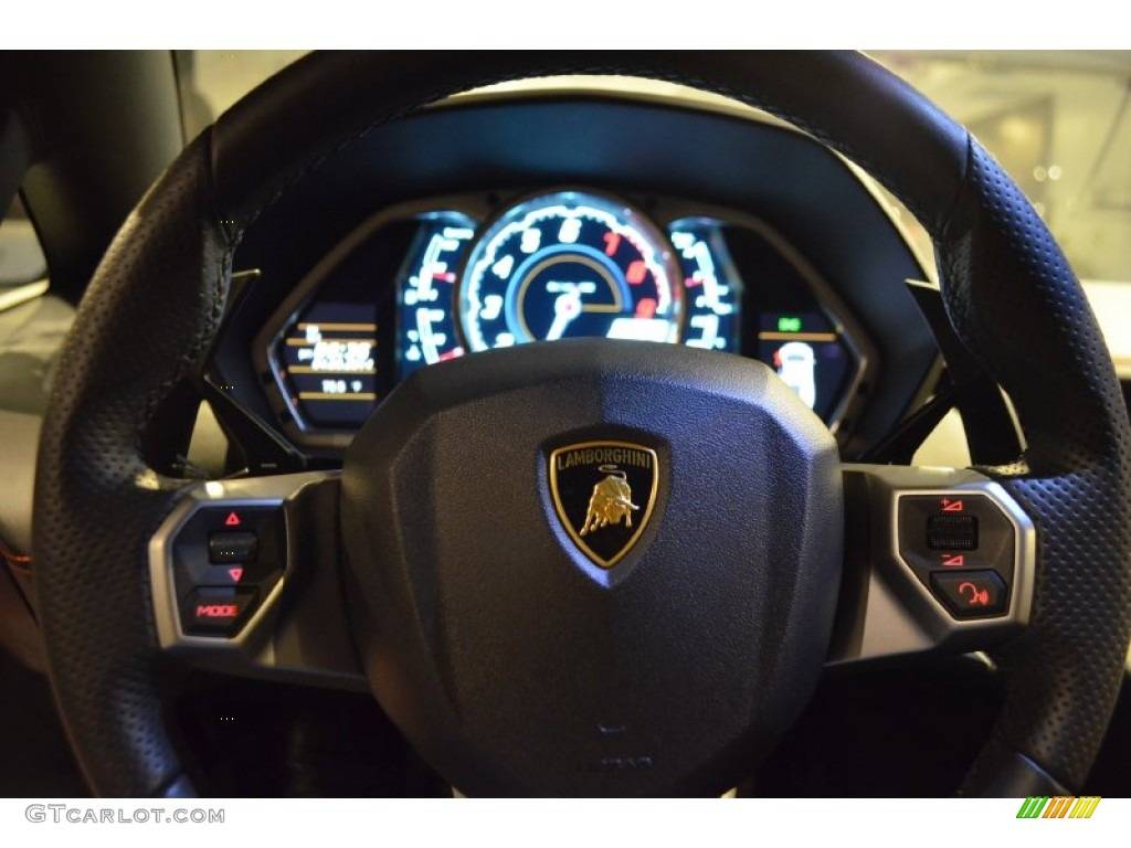 2012 Lamborghini Aventador Lp 700 4 Nero Ade Steering Wheel Photo