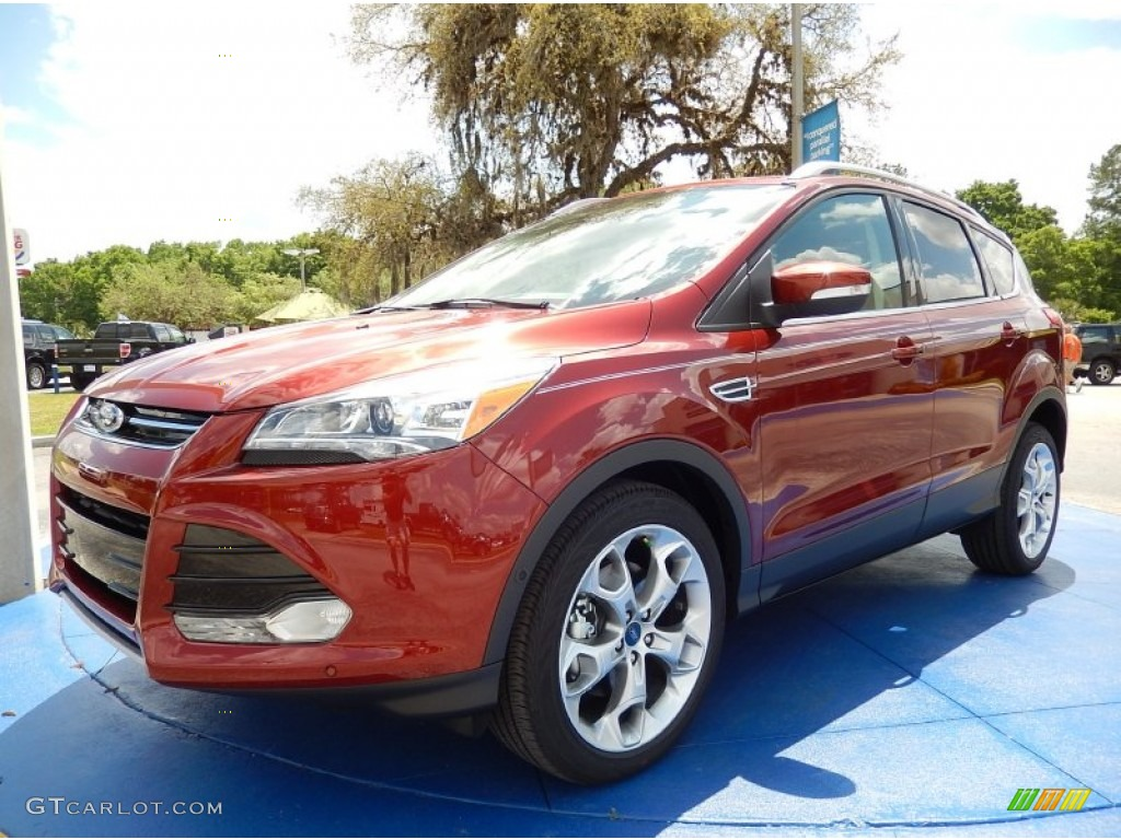 2014 Escape Titanium 2.0L EcoBoost - Sunset / Charcoal Black photo #1