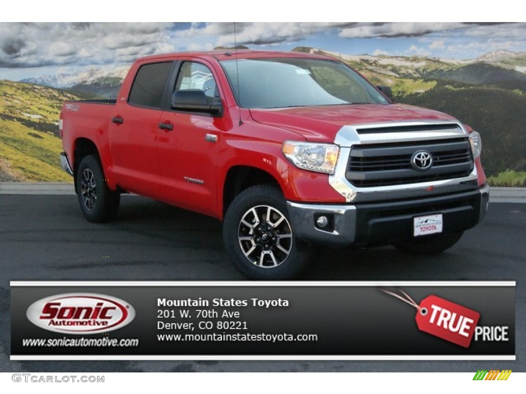 2014 Tundra SR5 TRD Crewmax 4x4 - Radiant Red / Graphite photo #1