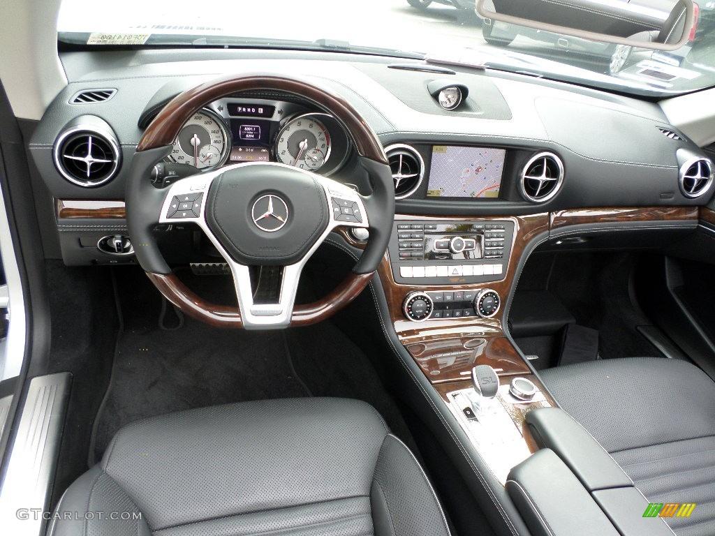 Black Interior 2013 Mercedes Benz Sl 550 Roadster Photo 92447494