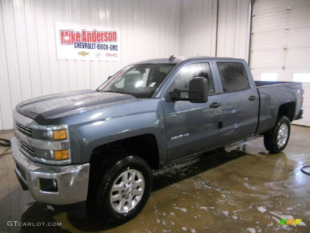 2015 blue granite metallic chevrolet silverado 2500hd lt crew cab 4x4 92434076. Black Bedroom Furniture Sets. Home Design Ideas