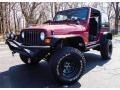 1998 Chili Pepper Red Pearl Jeep Wrangler SE 4x4 #92488782