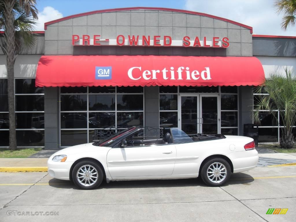 2002 Sebring Limited Convertible - Stone White / Dark Slate Gray photo #1