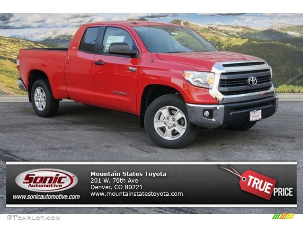 2014 Tundra SR5 Double Cab 4x4 - Radiant Red / Graphite photo #1