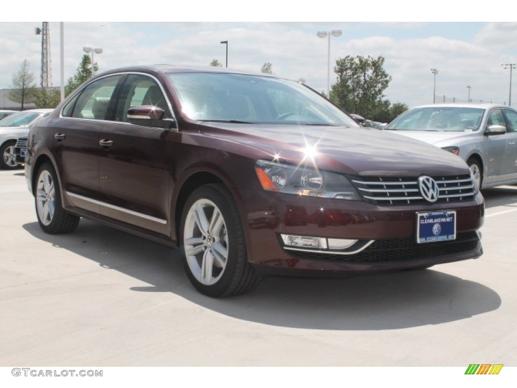 2014 Passat TDI SE - Opera Red Metallic / Cornsilk Beige photo #1