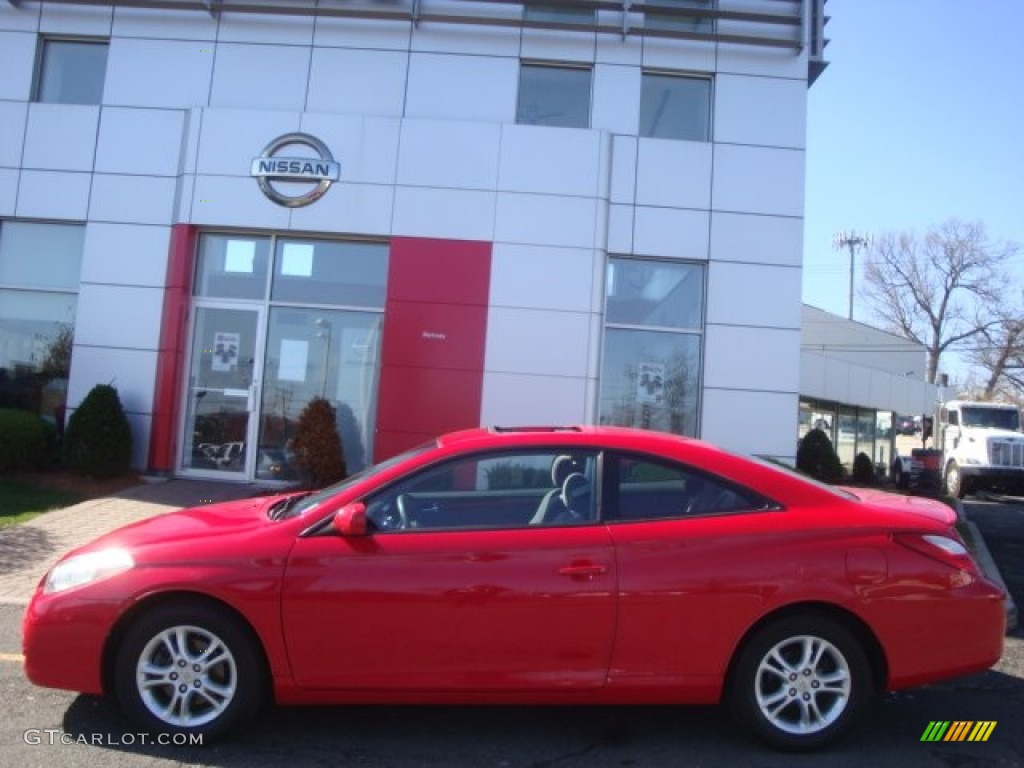 Absolutely Red 2007 Toyota Solara Sle Coupe Exterior Photo