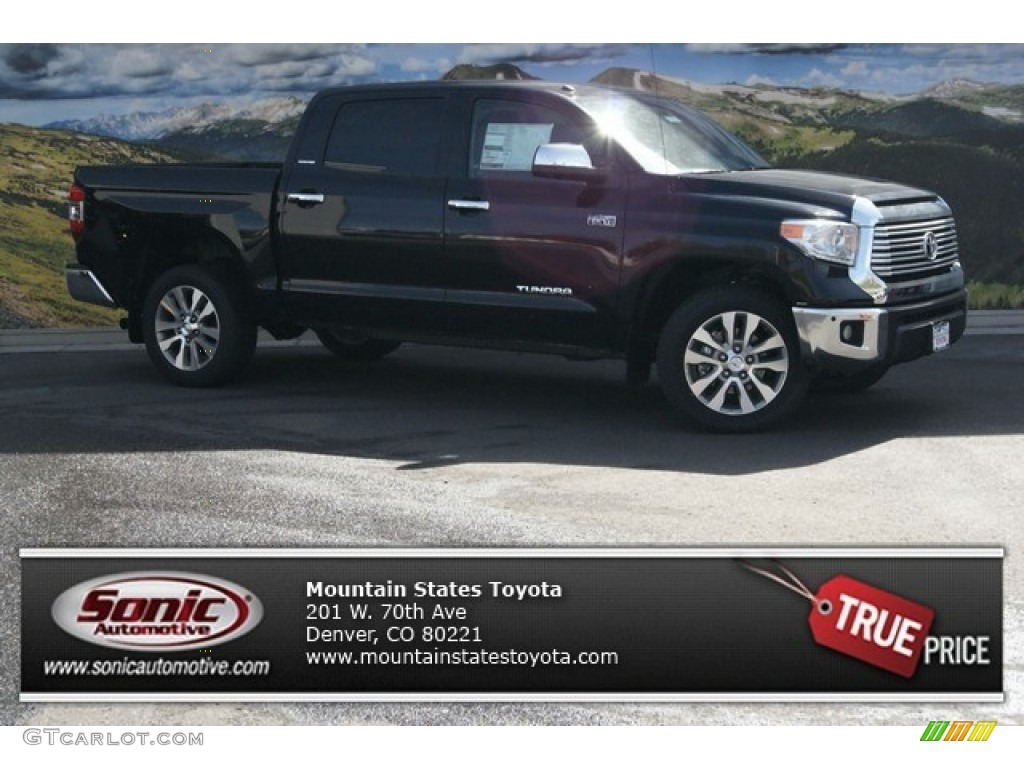 2014 Tundra Limited Crewmax 4x4 - Attitude Black Metallic / Black photo #1