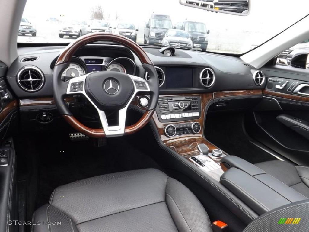Black Interior 2013 Mercedes Benz Sl 550 Roadster Photo 92725806