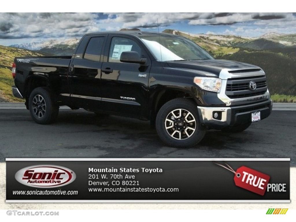 2014 Tundra SR5 TRD Double Cab 4x4 - Black / Graphite photo #1