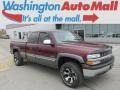 2000 Dark Carmine Red Metallic Chevrolet Silverado 1500 LS Extended Cab 4x4  photo #1