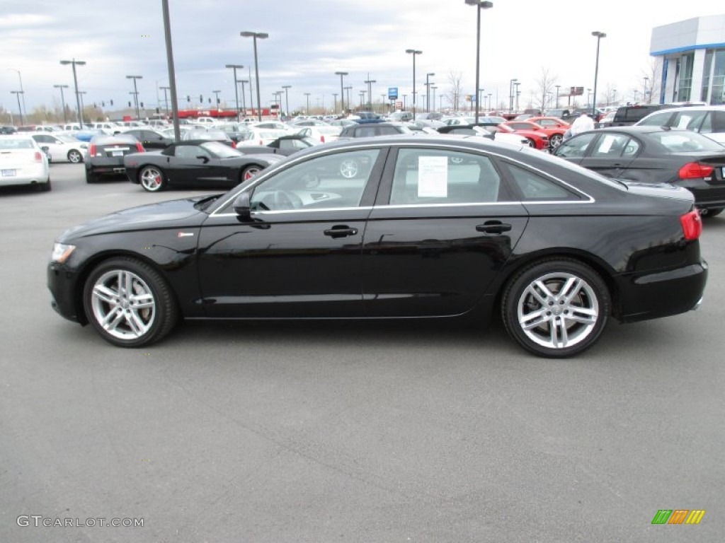 brilliant black 2012 audi a6 3 0t quattro sedan exterior photo 92845286. Black Bedroom Furniture Sets. Home Design Ideas