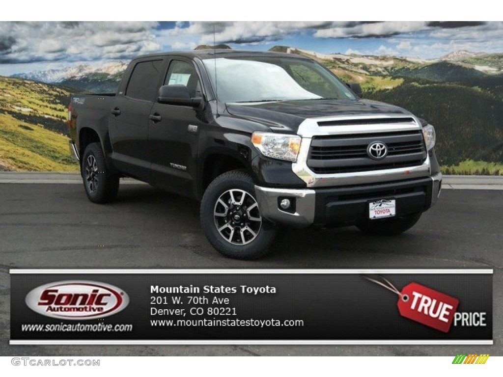 2014 Tundra SR5 TRD Crewmax 4x4 - Black / Black photo #1