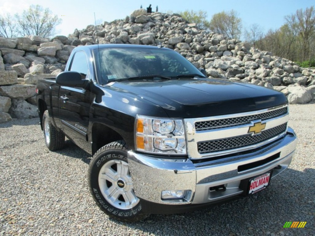 2013 Silverado 1500 LT Regular Cab 4x4 - Black / Ebony photo #1