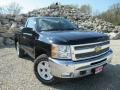 2013 Black Chevrolet Silverado 1500 LT Regular Cab 4x4  photo #1