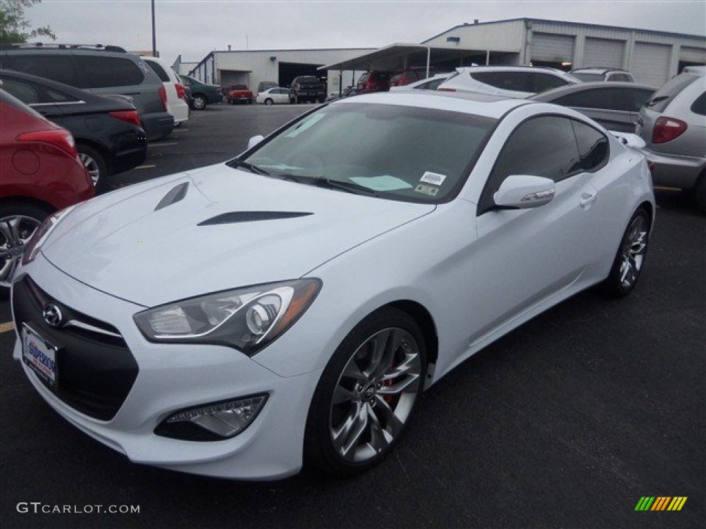 2014 casablanca white hyundai genesis coupe 3 8l ultimate. Black Bedroom Furniture Sets. Home Design Ideas