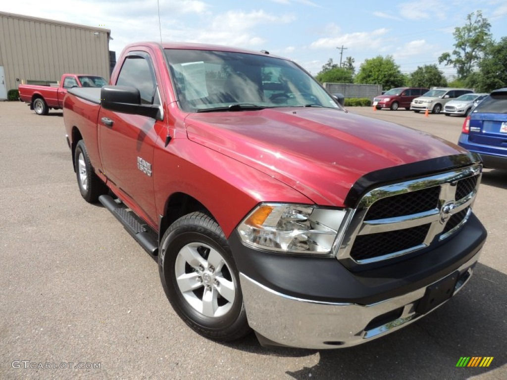 2013 Ram 1500 Express Quad Cab 4x4 Deep Cherry Red Pearl Black Diesel Male Models Picture