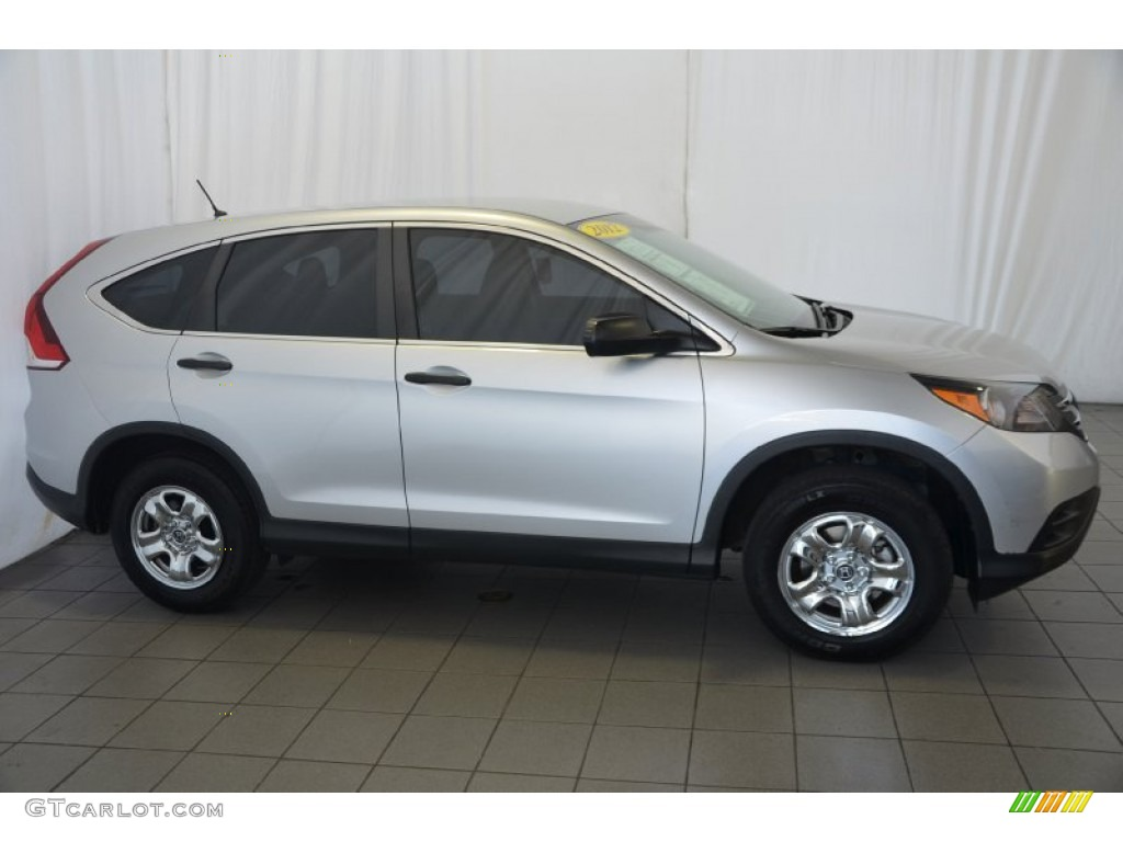 2012 CR-V LX - Alabaster Silver Metallic / Gray photo #5