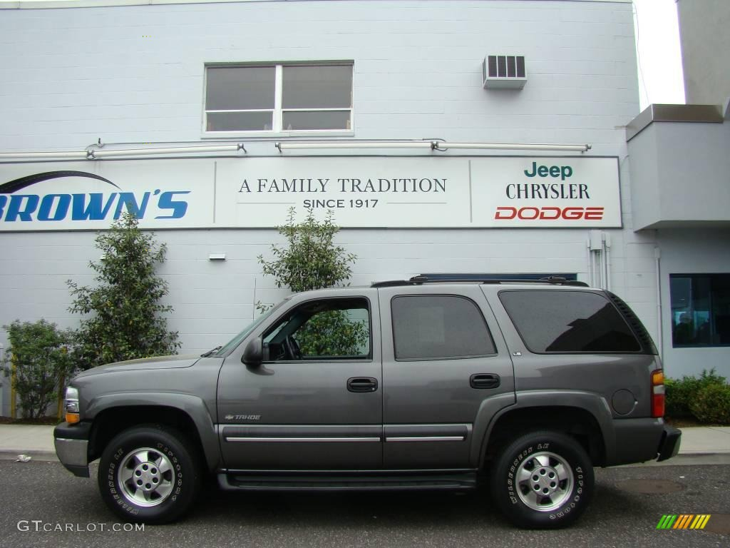 2002 Medium Charcoal Gray Metallic Chevrolet Tahoe Ls 4x4