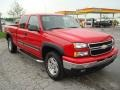 2006 Victory Red Chevrolet Silverado 1500 LS Extended Cab 4x4  photo #4