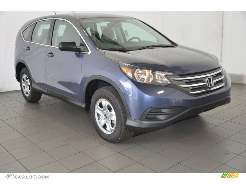 2014 CR-V LX - Twilight Blue Metallic / Gray photo #1