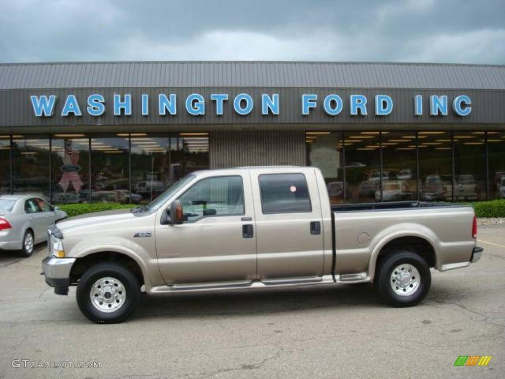 2004 arizona beige metallic ford f250 super duty xlt crew cab 4x4 9292596 car. Black Bedroom Furniture Sets. Home Design Ideas